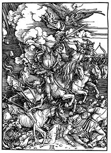 Emergenza sanitaria: Albrecht Dürer, I Quattro Cavalieri dell'Apocalisse, 1498
