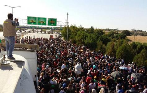 I migranti siriani che il presidente turco Erdogan ha spinto al confine greco