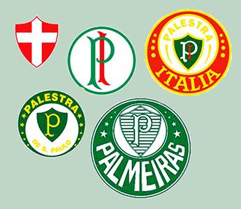 I vari loghi del Palestra Palmeiras dalle origini ad oggi