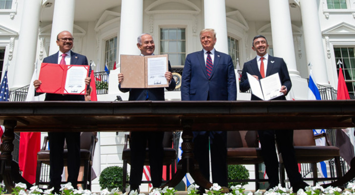 Trump artefice degli accordi di pace in Medio Oriente