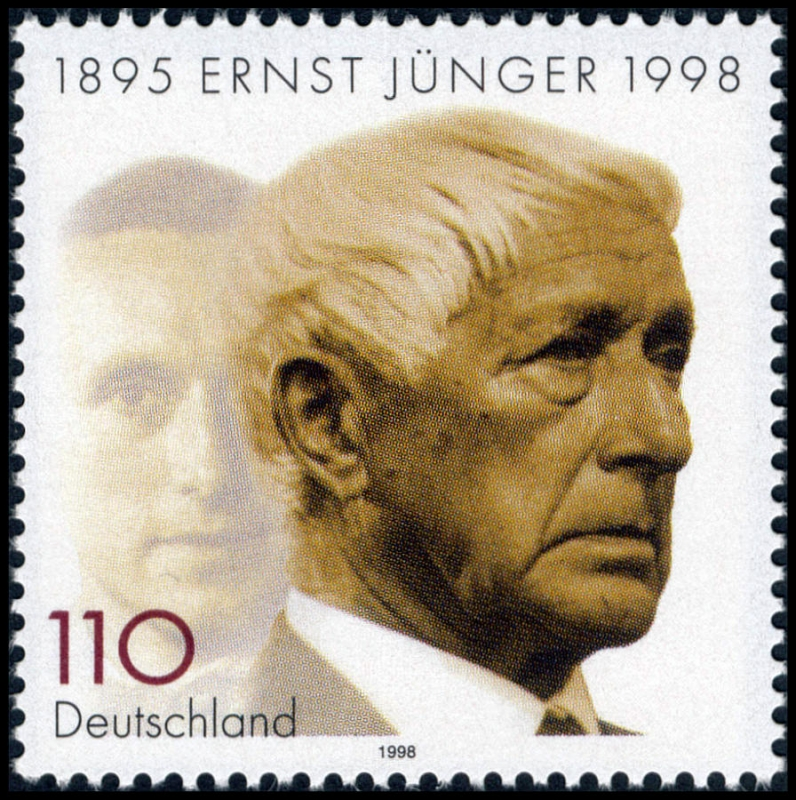 Francobollo commemorativo di Ernst Jünger (1895-1998)