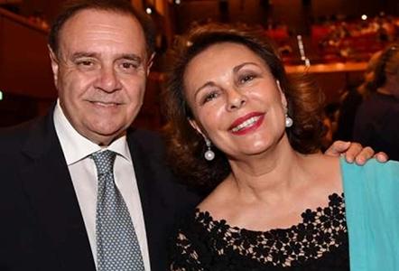 Clemente Mastella e signora