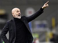 Calcio Serie A. L'allenatore del Milan Stefano Pioli