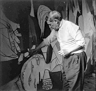 Picasso al lavoro su Guernica