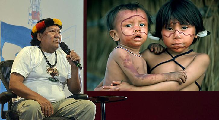 Nel film L'ultima Foresta Davi Kopenawa racconta il dramma degli indios dell'Amazzonia