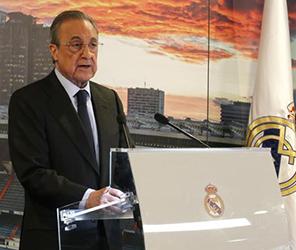 Il presidente del Real Madrid Florentino Perez, ideatore del progetto Superlega