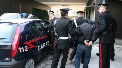 Un arresto operato dai miliari dell'Arma dei Carabinieri
