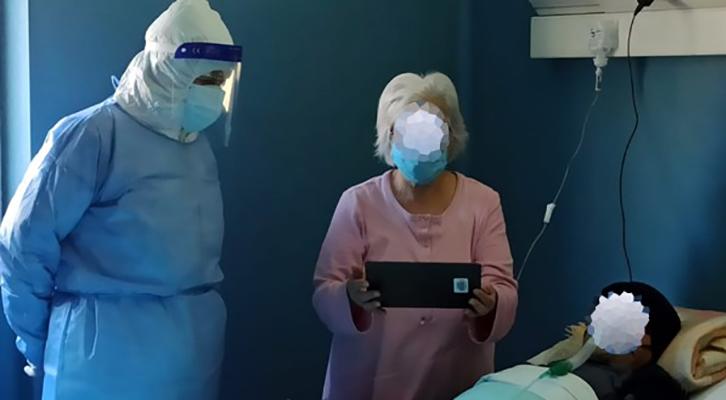 Un tablet per comunicare <br>con i propri cari