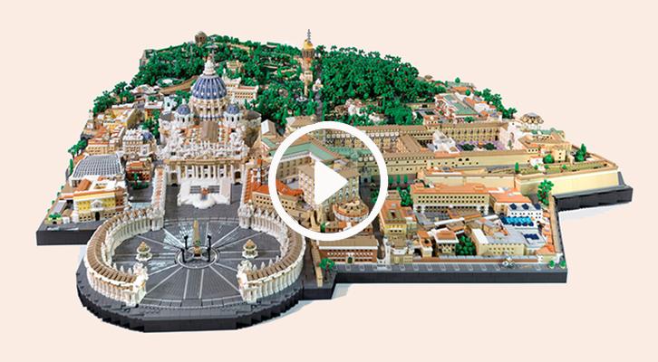 La Città del Vaticano <br>in mattoncini Lego