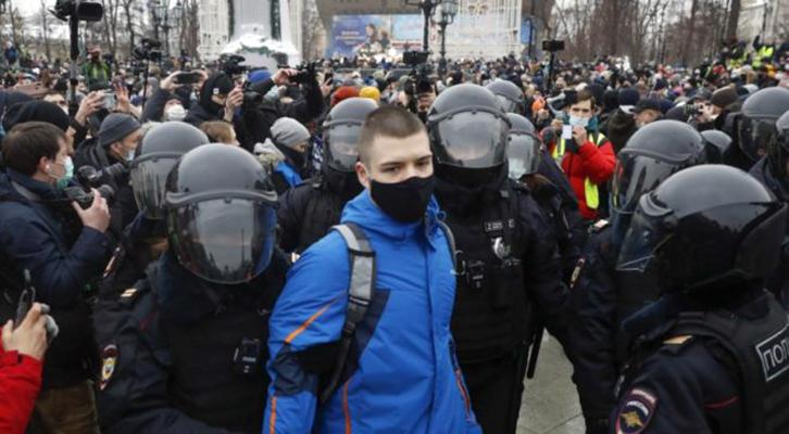 Scontri e tensioni a Mosca <br>per Alexiei Navalny