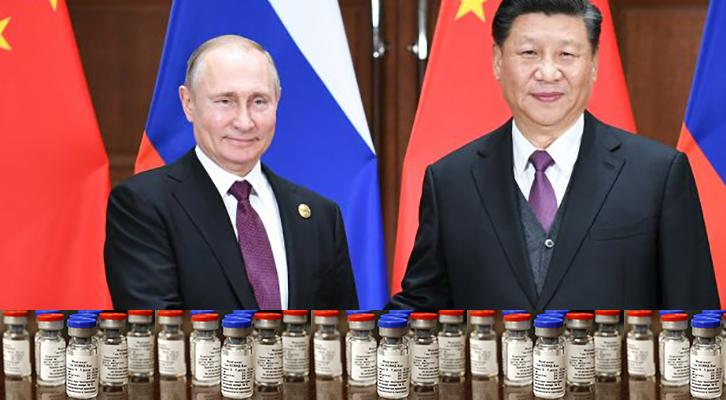 Accordo Russia-Cina <br>sulla produzione dello Sputnik V