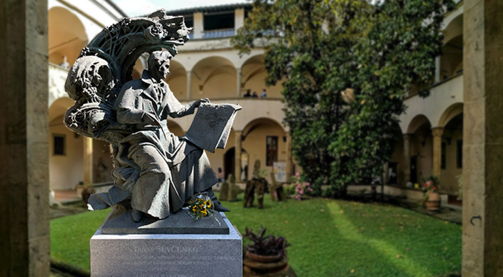 Una statua per Taras Shevchenko <br>poeta nazionale ucraino