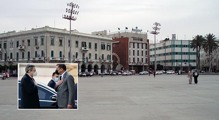 In Libia la prima visita all'eserto di Mario Draghi