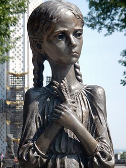 Il monumento all'Holodomor a Kiev