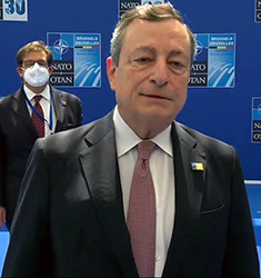 Mario Draghi al vertice Nato a Bruxelles
